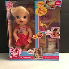 NEW Baby Alive My Baby All Gone Doll~Blonde DISCONTINUED 30 + PHRASES