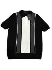 Fred Perry Striped Knitted Shirt K9548 - Large