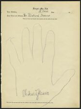 Richard STRAUSS (Composer): Signed Hand Tracing