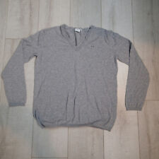 Lacoste Gray V Neck Sweater Size 44 US  Cotton Tennis pullover w6
