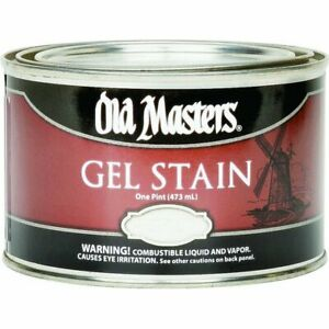 Old Masters Gel Stain 1 Pint, Highly Concentrated Oil Based Intense Color