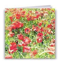 Tarjeta de felicitación de amapolas-Flores