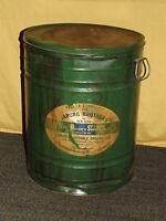 "VINTAGE LARGE 20"" HIGH FOOD  JABURG BROTHERS NY PURE VEGETABLE SHORTENING TIN"