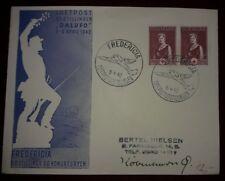 Correo aéreo carta Fredericia 1942 Dinamarca ffc dalufo (52