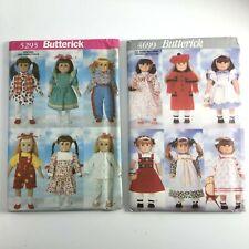 "Butterick 4699 5295 18"" Doll Pattern Western Pajamas Coat Uncut American Doll"