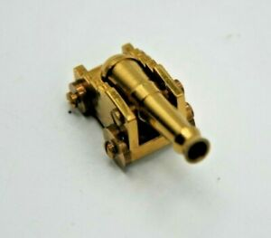 VINTAGE  MINIATURE 1.25 INCH BRASS  CANNON -   - WEIGHS .6 OZ -  - RARE ?