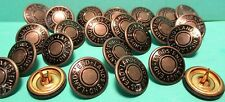 Set of 20 Round Metal Snap like Gray LANDS END BUTTONS with PRONGS Medieval