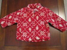 Baby Gap Boy Red Nordic Print Sherpa Fleece Jacket Coat EUC 6-12 Month Warm