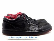 Nike Air Jordan I 1 Retro Low Black Metallic Silver Varsity Red 2007 sz 10.5