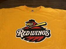 Rochester Red Wings MiLB Baseball Minnesota 2XL XXL Yellow Gold T Shirt
