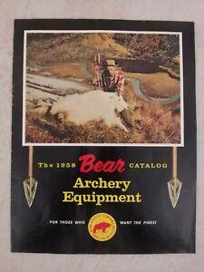 Bear Archery Equipment Catalog 1958 Genuine real bow arrow vintage 50s Fred USA