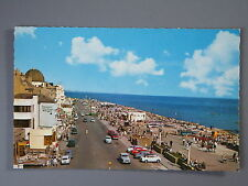 R&L Postcard: Worthing Sea Front 1960's, Classic Cars Rover Ford Anglia Mini etc