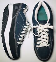 Skechers Shape Ups Mens Size 11 Blue Blk White Walking Shoes Sneakers EUC