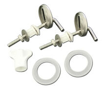 Universal Stainless Steel Chrome Replacement Heavy Duty Toilet Seat Hinge Set