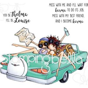 Thelma & Louise Cling-style Unmounted Rubber Stamps STAMPINGBELLA EB524 New
