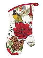 "Michel Design Works ""MERRY & BRIGHT"" Christmas Oven Mitt - Bird, Pineco"