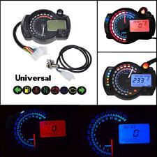 LCD Digital 15000rpm Speedometer Tachometer Odometer Gauge Dual Colors Backlight