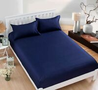 1PC Blue Cotton Soft Bed Dressing COVER Deep Pocket,80*60 in, FIT Queen , FULL