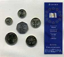 KMS Kursmünzensatz die letzten Umlaufmünzen in Zypern 1 Sent - 50 Sent M_932