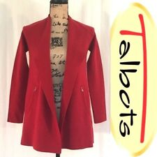 Talbots Red Wool Cardigan Sweater - 100% Merino Wool - Size Petite / Small