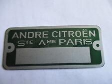 Typenschild Belge citroen Ente 2CV HY DS SM ID AMI GS Mehari Schild S31 grün