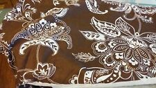 """New listing Bed Skirt Floral Brown & White Queen Size 13 1/2"""" Side Drop"""
