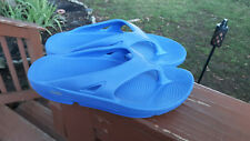 UNISEX OOFOS PERIWINKLE ORIGINAL WALKING COMFORT RECOVERY SANDALS SIZE W9 M7