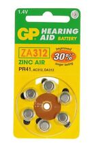 GP Batteries Air Hearing Aid Battery (Pack of 6) (Type GPZA312-D6)