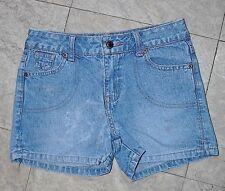 PreTeen Girl's Shorty Shorts Arizona Jean Company s 8 Denim Blue Jeans Pink Trim