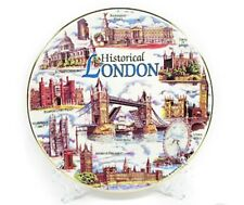 London Ceramic Display Plate With Stand & Wall Hanging Hook Showpiece  Souvenir