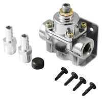 "Pressure Regulator Fuel Range 1 to 4 psi 2518 3/8"" barb fittings & mounting Hdw."