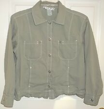 Womens FRESH PRODUCE Green CHINOS SHIRT~SMALL~NEW~Jacket Top Button Down Blouse