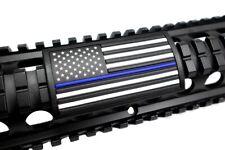 Blue Line Flag Stars Left BLK Retainer - Grip PVC Custom Picatinny Rail Cover