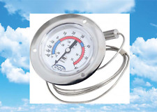 """Leer, Walk-In Cooler, Freezer, 2"""" Flush Flanged Dial Thermometer, -40 to +60F"""
