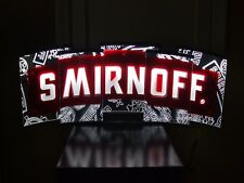 SMIRNOFF LED BAR SIGN MAN CAVE GARAGE ICE BEER LIQUOR WHISKEY RUM NEW