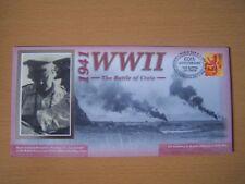 GRAN Bretagna, 2001,WW11, Battaglia di Creta, 1941,60TH anniv, COPERTURA, eccellente.