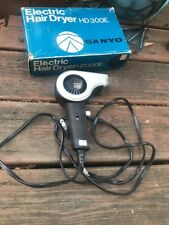 Vintage Sanyo Electric Hair Dryer HD300E Works