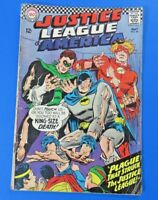JUSTICE LEAGUE OF AMERICA #44 COMIC BOOK ~ DC SILVER 1966 ~ VG