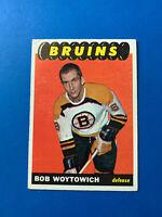 Bob Woytowich 1965-66 Topps Vintage Hockey Card #100 Boston Bruins
