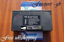 Vhs & S-vhs Video mojados o secos cabeza limpiador / Cinta Limpiadora / Cassette-llena de fluido