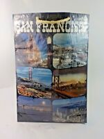Vtg 1970's San Francisco Photo Tourist Spots Reuseable Shopping Bag Tote Japan