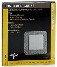 "Medline Bordered Gauze Pads Dressing 6"" x 6"" (4""x4"" Pad), Box of 15, # MSC3266"