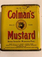 Vintage Colman's Bull's Head Mustard Tin