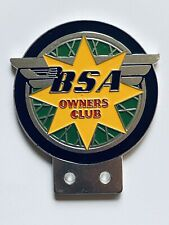 Vintage N.O.S BSA owners club motor cycle badge genuine see our other listings