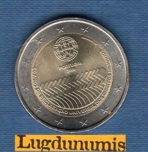 2 euro Commémo Portugal 2008 60 ème Déclaration Droits de l'Homme - Portugal