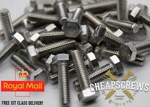 SET SCREWS HEX HEAD FULLY THREADED BOLT STEEL M6 M8 20-25-30mm DIN933