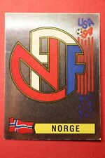 PANINI STICKERS USA 94 WORLD CUP N. 344 BADGE NORGE NEW BACK VERY GOOD!