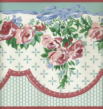 Pink Wave Grosgrain Ribbon Wallpaper Border SK6428BD