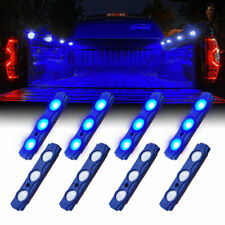 Xprite 16PC LED Light Pod Strip Kit BLUE Waterproof for Truck Cargo Bed Pickup