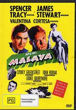 MALAYA - SPENCER TRACY & JAMES STEWART   NEW ALL REGION DVD